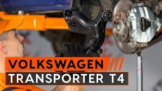 VW TRANSPORTER T4 első felső lengőkar csere [ÚTMUTATÓ]