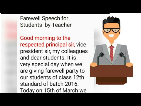 farewell speech by principal to students of class 10