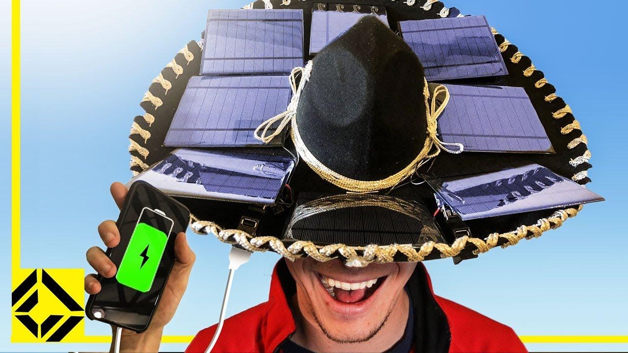 SOLAR POWERED SOMBRERO - YouTube 007866c77c1