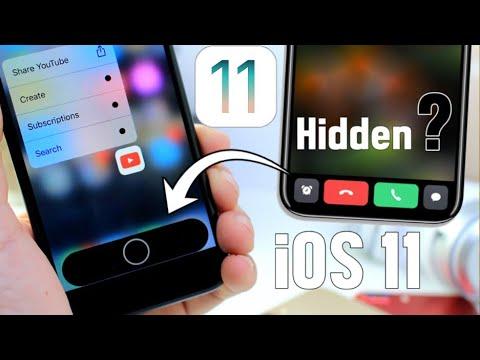 iOS 11 Hidden Function Area Home button ?