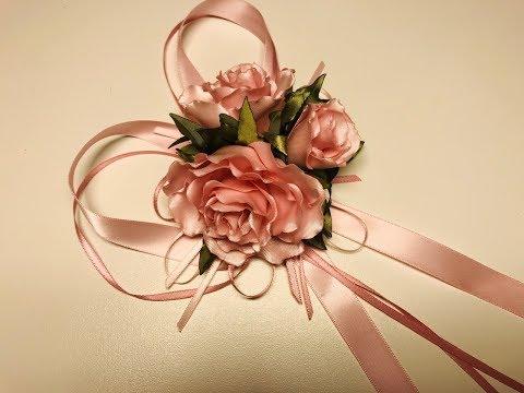 МК Розы из лент 🌹🌹. Ribbon Rose 🌹🌹. Flores De Fita 🌺🌺