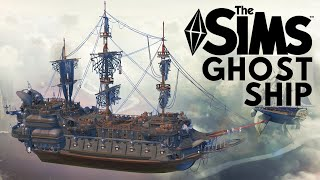 THE FLYING DUTCHMAN | LEGENDARY GHOST SHIP | The Sims 4 Speed Build | NOCC