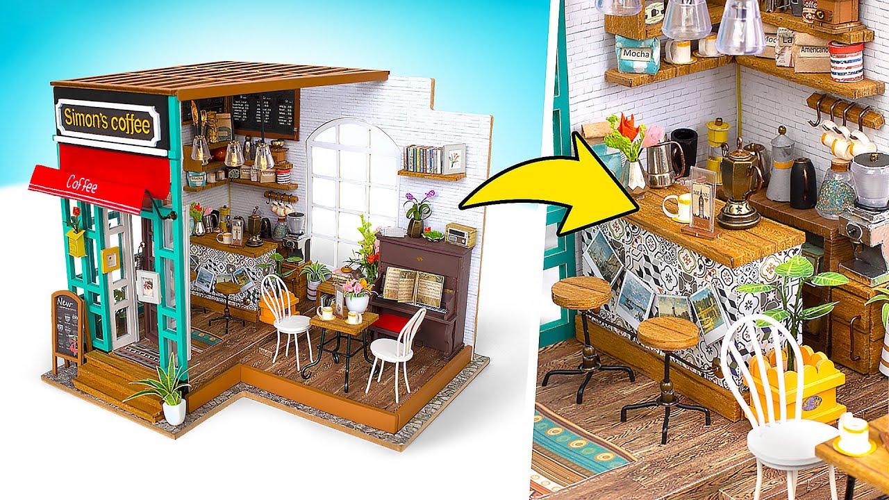 Casa de café en miniatura DIY ☕️🏠