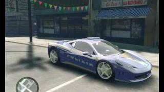 Ferrari 458 Italia Polizia car GTA IV Police