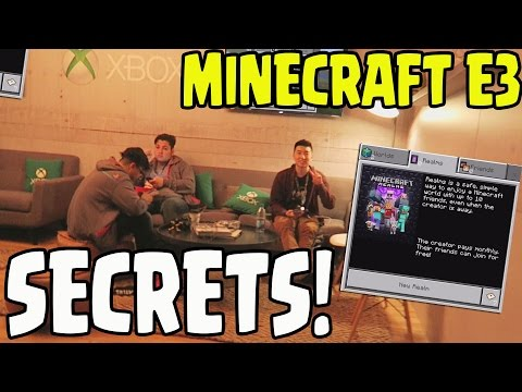 Minecraft PE/Xbox/PS4 MODS CONFIRMED AT E3! ADD ON UPDATE Server Release Date EXCLUSIVE E3 NEWS