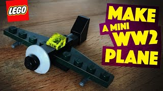MAKE a mini WW2 plane in LEGO