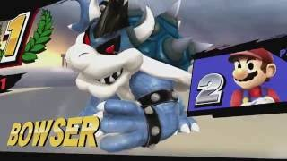Super Smash Bros. for Wii U - Mod Showcase - Dark Bowser (With Mario Kart voice) and M&L Mario