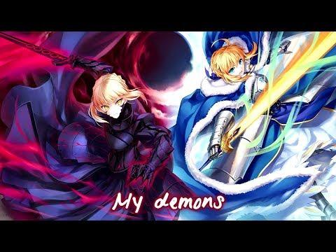 Nightcore - My Demons (Switching Vocals) || Lyrics「Starset」