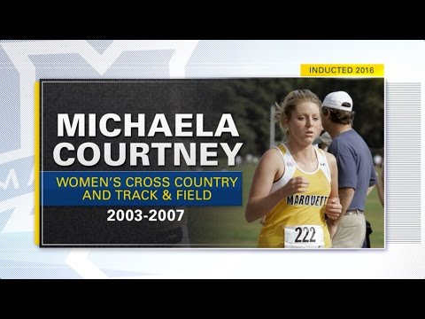 Marquette University M Club Hall of Fame Induction 2016 - Michaela Courtney