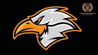 Logo Design illustrator : How to Make Eagle Logo Look Professional / Animal Logo Design (Real Time)