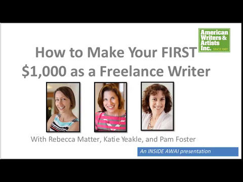 How to Make Your FIRST $1,000 in Freelance Writing: Inside AWAI