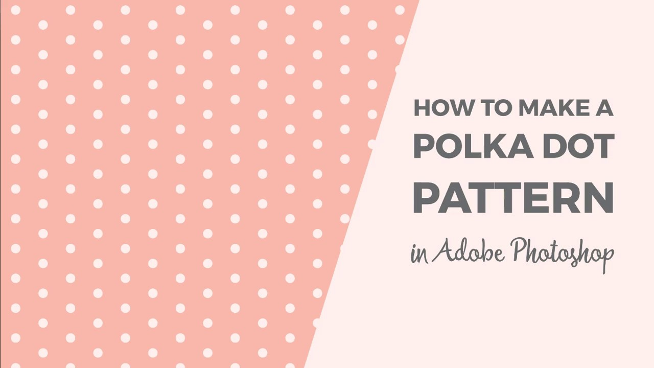 how to make a polka dot pattern in photoshop youtube