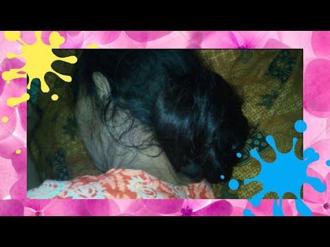 Long Hair Bun Sleep