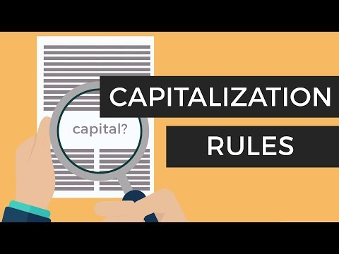 Capitalization Rules - Easy Grammar Tips On When To Capitalize (With Arabic Subtitles!)