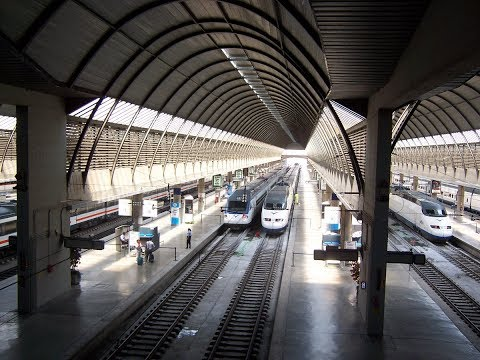 Trains In Spain - Cool Seville Train Station Tour + Train Highlights