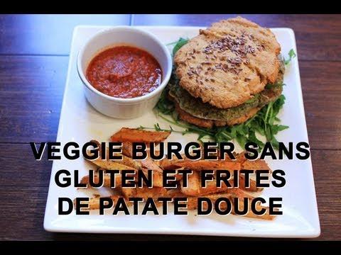 Populaire Veggie Burger sans gluten, frites de patate douce et ketchup  PU74