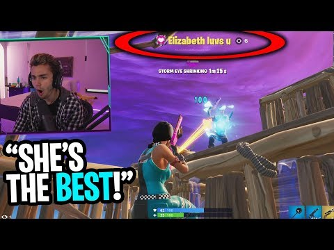 I jumped off the map and spectated the BEST GIRL GAMER on Fortnite! (shocking)