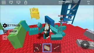 We demolished the castles (Roblox brickbattle)
