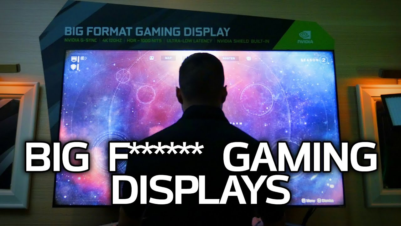 BIG 4K 120Hz Gaming Displays & GeForce NOW! NVIDIA at CES 2018