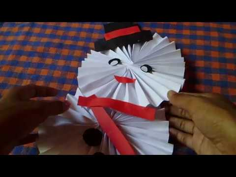 How to Make Paper Snowman  - DIY - Paper Craft