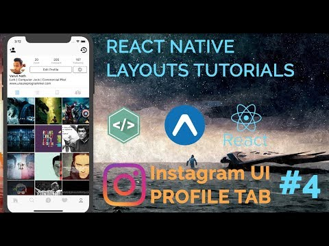 #4 Instagram UI Profile Tab Tutorial Part 1 | React Native(UI) Layout Series