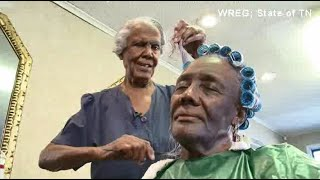 99-year-old woman still does hair, plans to retire this year after her 100th birthday