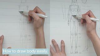 (ENG)패션디자인 전공자가 몸 그리는 방법. 인체그리…