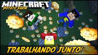 TRABALHANDO JUNTOS! POTATO FARM #20 ( TazerCraft )