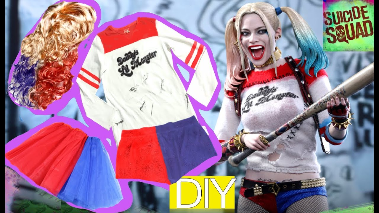 Harley quinn suicide squad homemade costume for halloween part 1 harley quinn suicide squad homemade costume for halloween part 1 youtube solutioingenieria Image collections