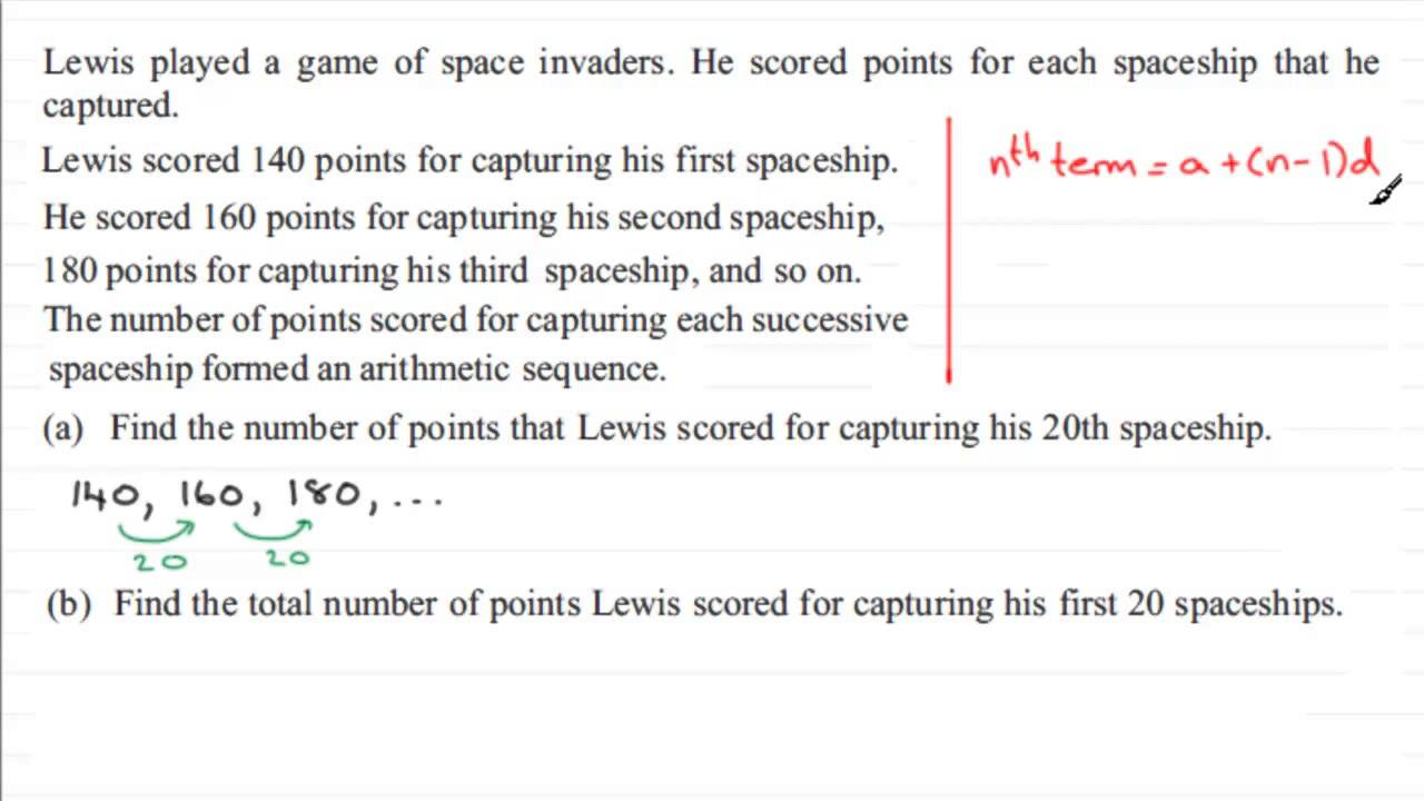 Exam Questions - Arithmetic sequences and series   ExamSolutions