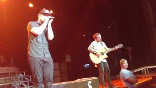 Shinedown performing 45 and Simpleman live in  Redding CA 3/6/16