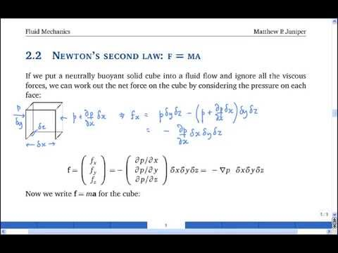 Fluid Mechanics I - Dr. Biddle Lecture Series