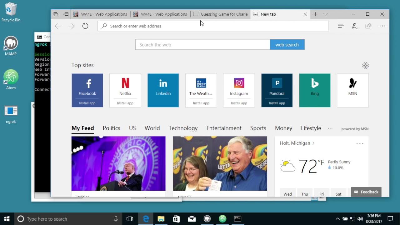 Using ngrok on Windows-10
