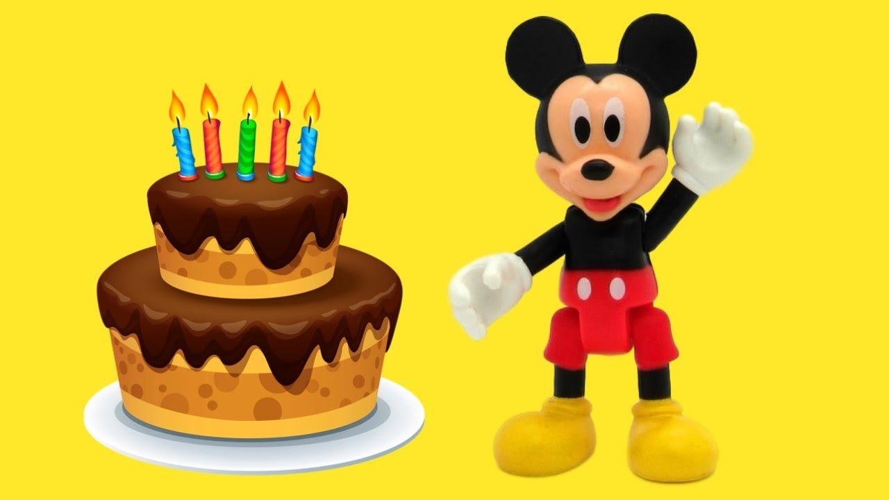 Feliz Cumpleaños Mickey Mouse Cancion Original Infantil Tradicional Para Niños Español Youtube