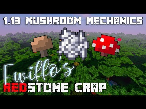 New Minecraft 1.13 Mushroom Growth Mechanics