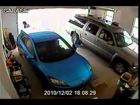 FAIL PARKING   Epic woman exit from garage!