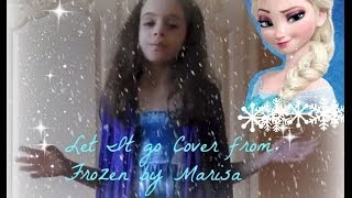 Let It Go cover from Frozen by little girl