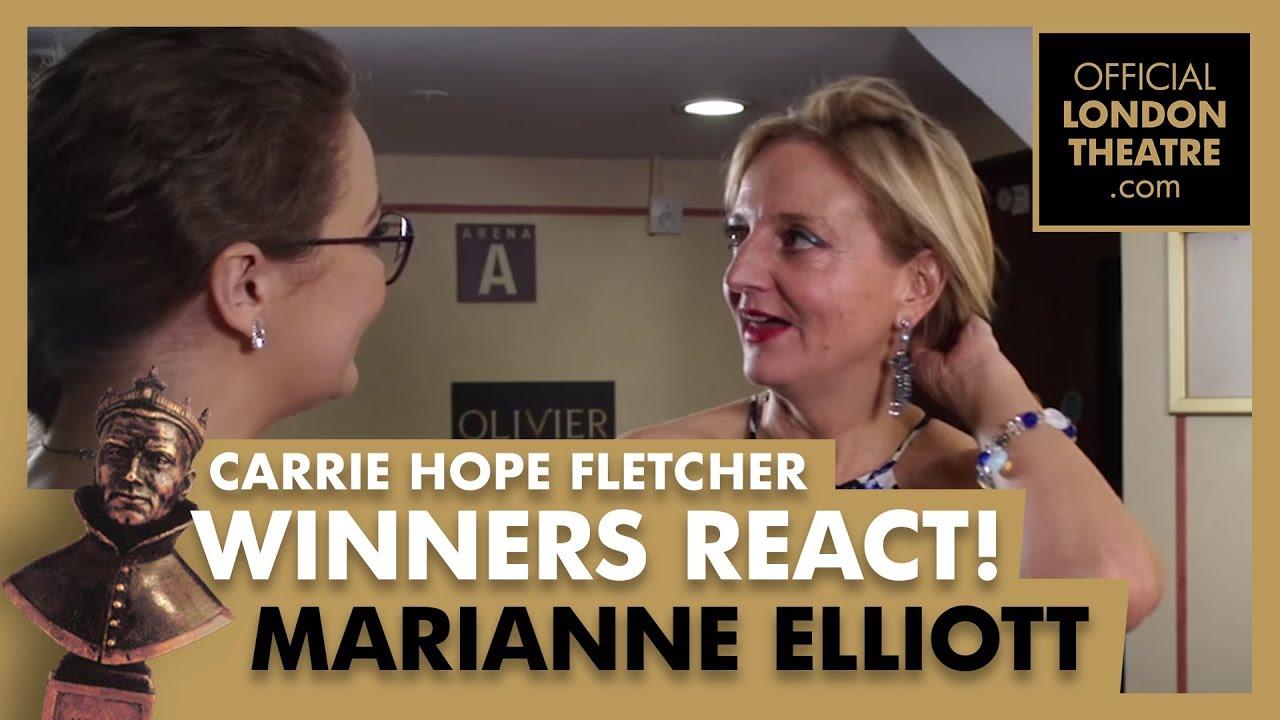 Winners Reactions - Olivier Awards 2018 -  Carrie Hope Fletcher interview Marianne Elliott