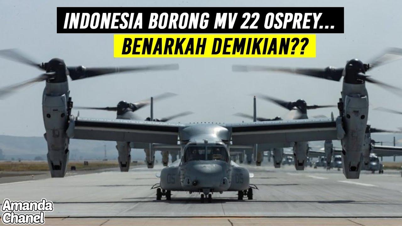 Pembelian 8 Heli Tempur MV-22 Osprey Indonesia Adalah Hoax
