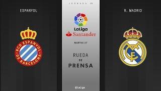 Rueda de prensa Espanyol vs R. Madrid