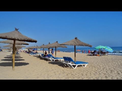 Playa Central na isla Cristina (Huelva) Espanha