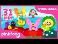 Ten Little Frog Kids and more | +Compilation | Spring Songs | Pinkfong Songs for Children