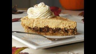 No Bake Pecan Pumpkin Cheesecake