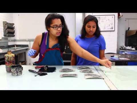 Amara Barnes Walks Through Block Printing Process