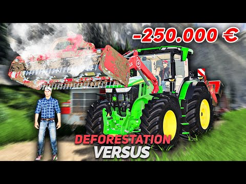 Puissant John Deere 7R 2020 ! | Déforestation Versus #07 (Farming Simulator 19)