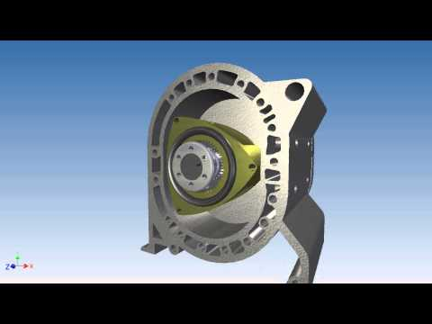 Wankel Rotary Engine - Autodesk Inventor Studio Rendering