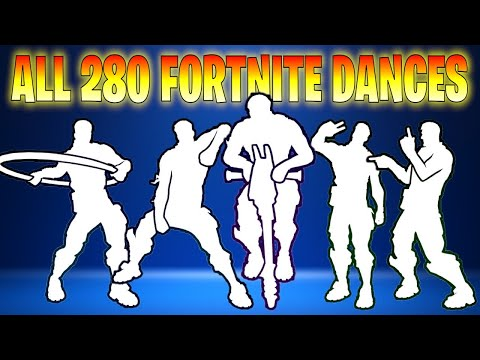 *ALL* 280 Fortnite Dances/Emotes (Season 1 To Season 11)