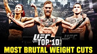 10 Most Brutal Weight Cuts In The UFC