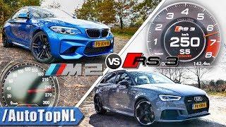 Audi RS3 2018 vs 2018 BMW M2   ACCELERATION TOP SPEED Exhaust SOUND & AUTOBAHN POV by AutoTopNL