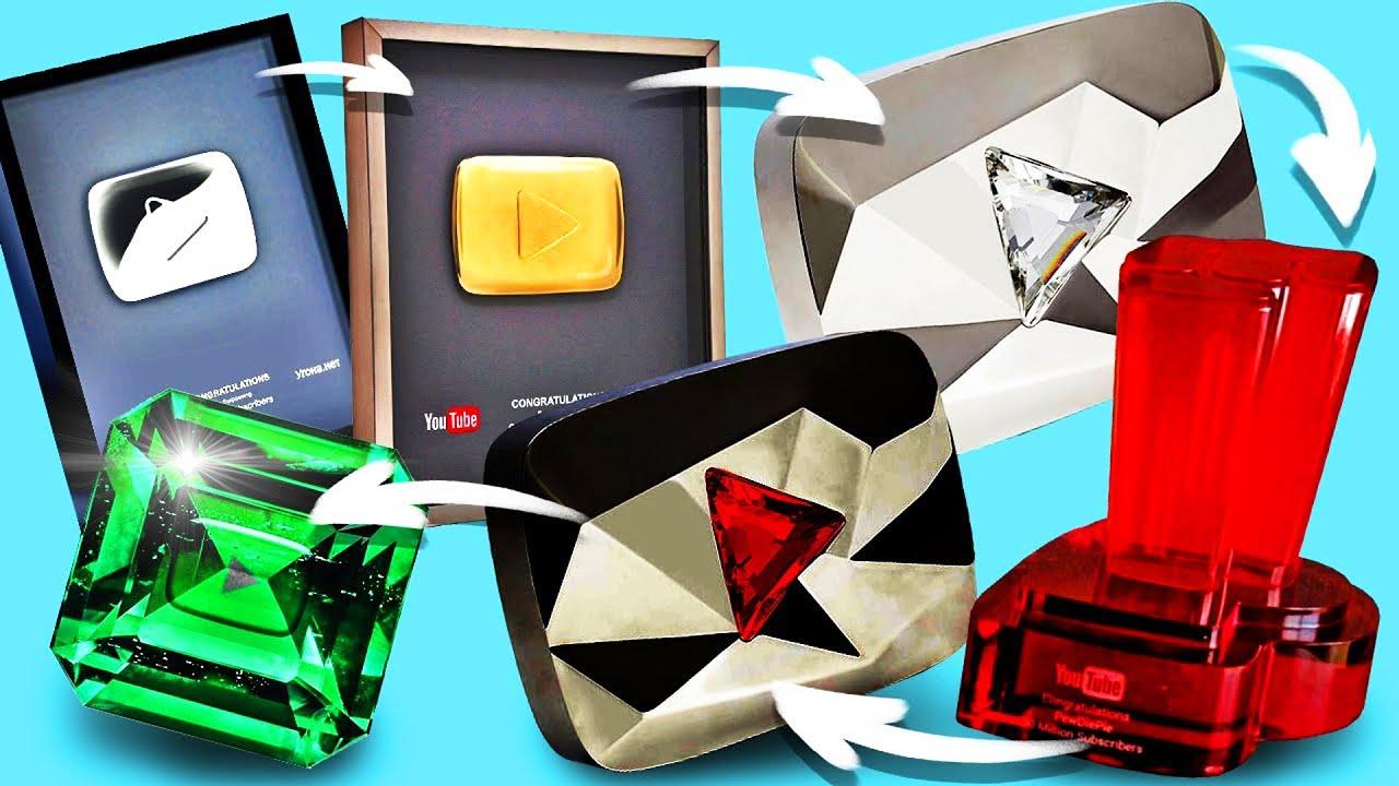 هكذا تطور درع اليوتيوب عبر التاريخ, من 100 ألف مشترك إلى 100 مليون مشترك!!